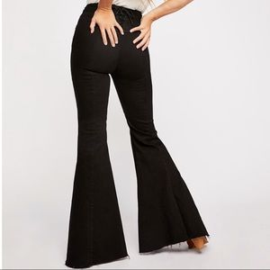 NWT FP CRVY Super High-Rise Lace-Up Flare Jeans